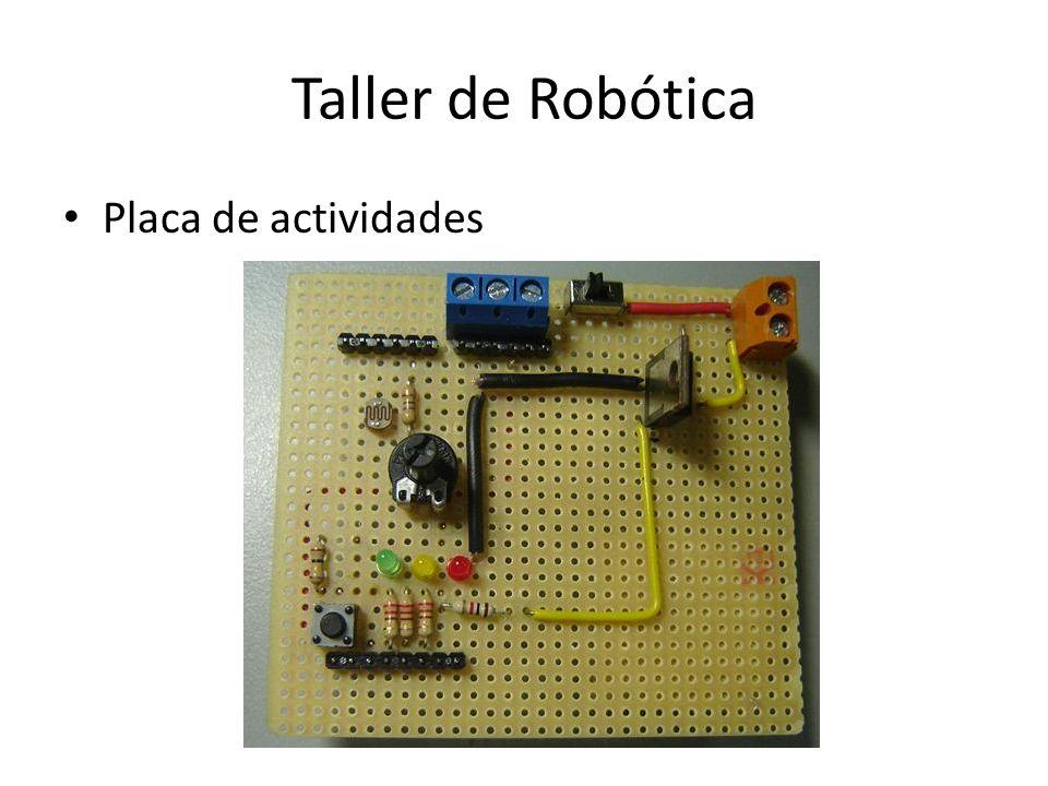 Taller de Robótica Placa de actividades