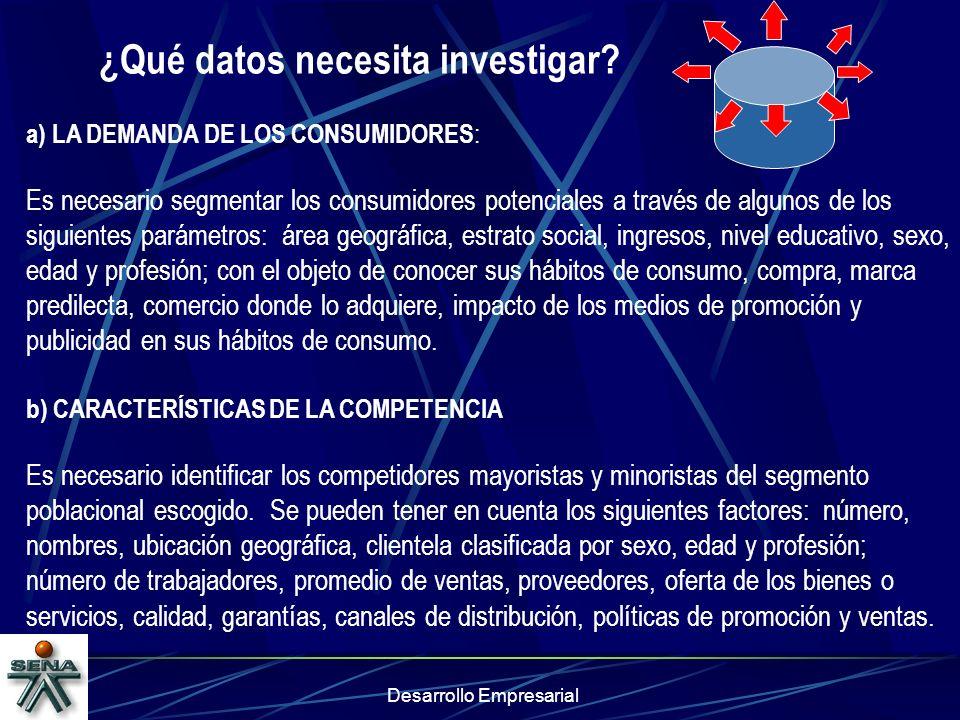 ¿Qué datos necesita investigar