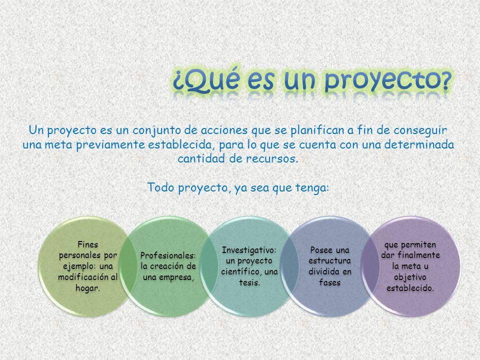 ¿Qué es un proyecto