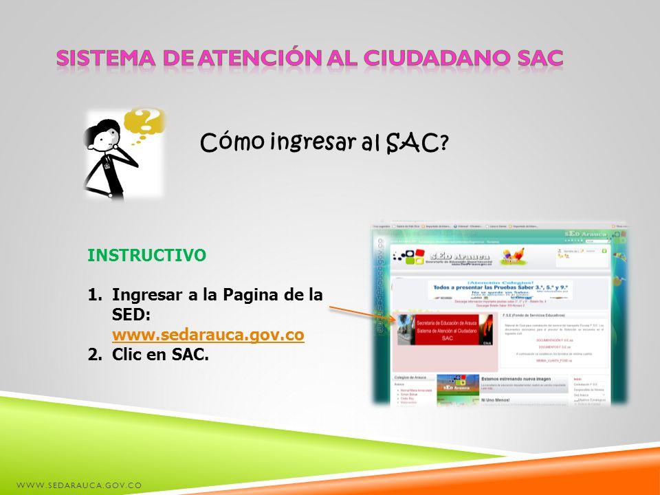Sistema de Atención al Ciudadano SAC
