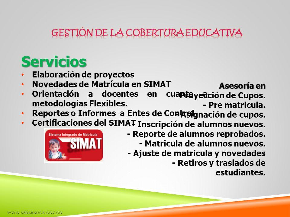 GESTIÓN DE LA COBERTURA EDUCATIVA