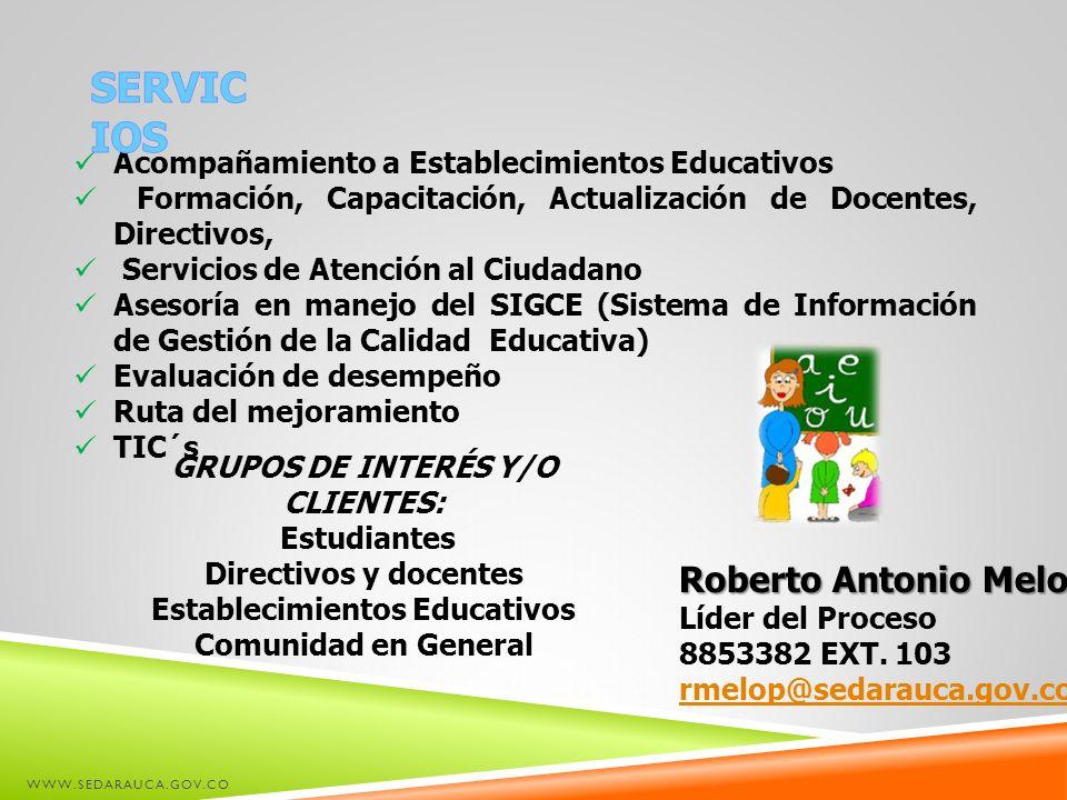 GRUPOS DE INTERÉS Y/O CLIENTES: Establecimientos Educativos