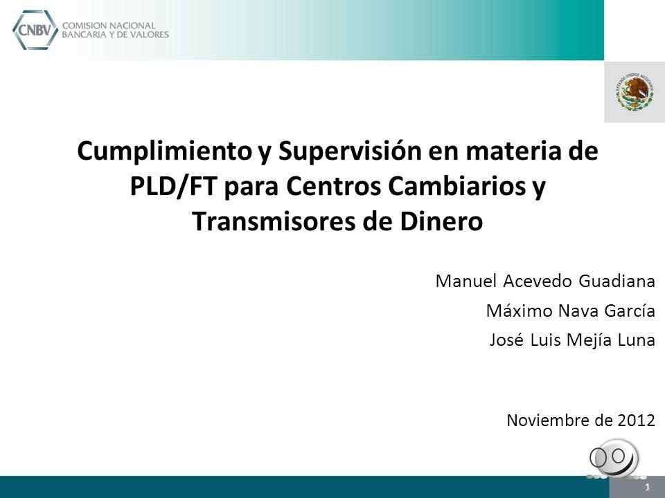 Cumplimiento y Supervisión en materia de PLD/FT para Centros Cambiarios y Transmisores de Dinero