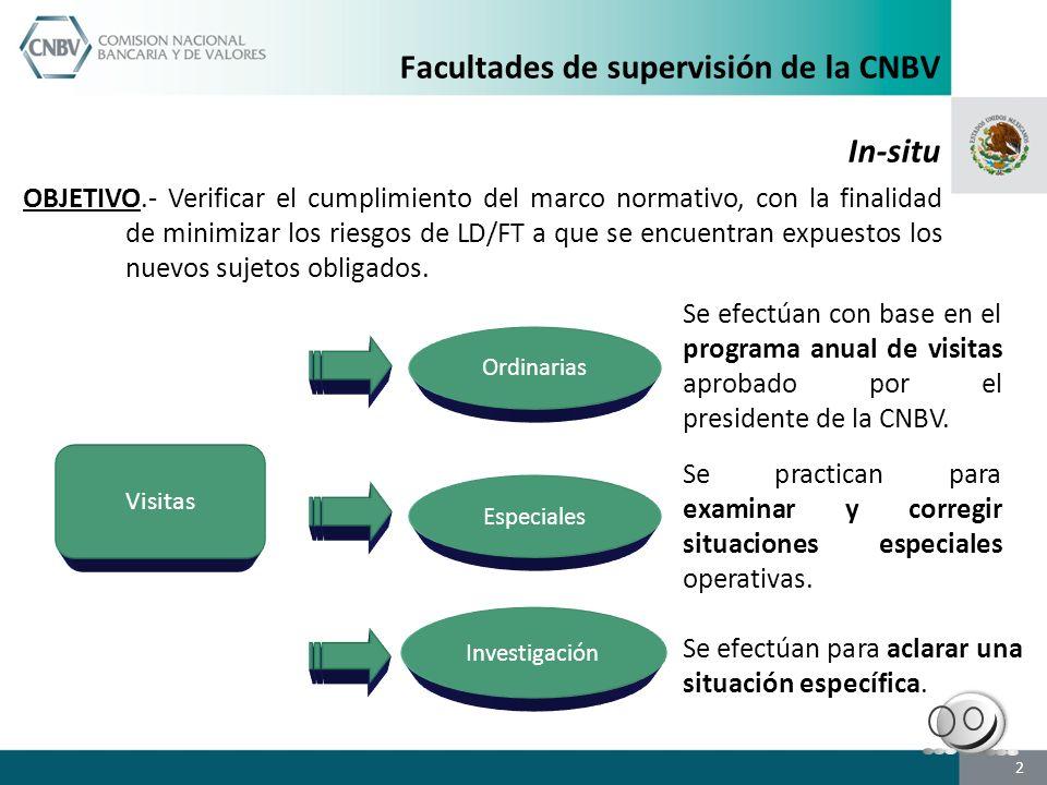 Facultades de supervisión de la CNBV In-situ