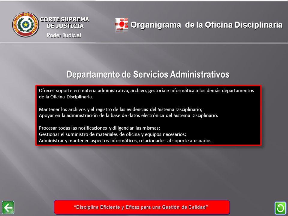 Departamento de Servicios Administrativos