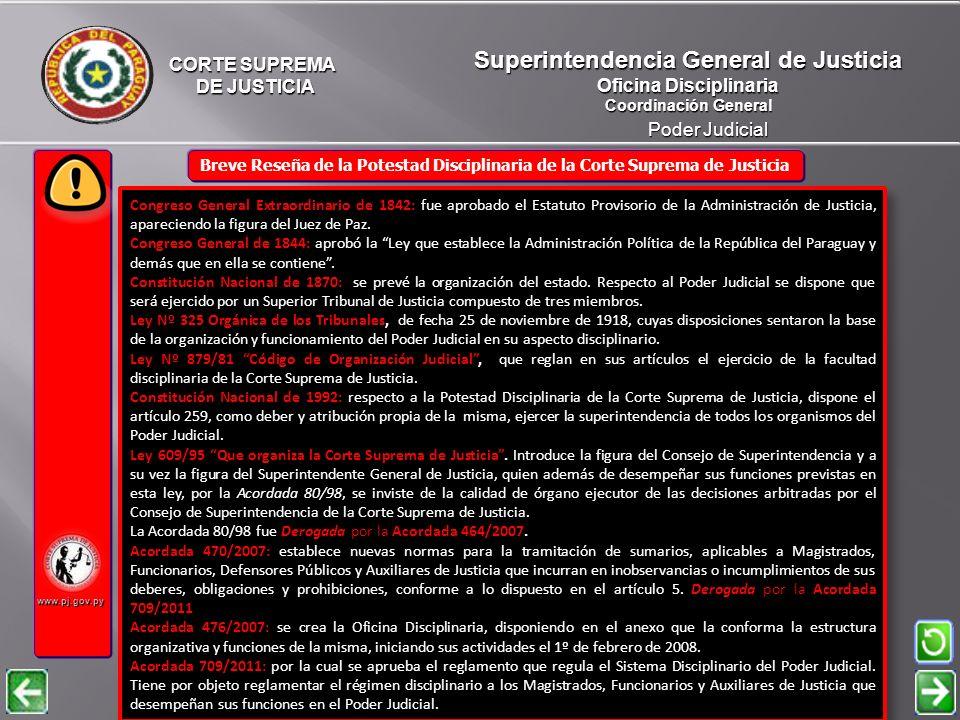 Superintendencia General de Justicia Oficina Disciplinaria