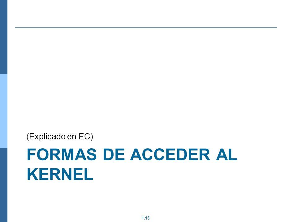 Formas de acceder al kernel