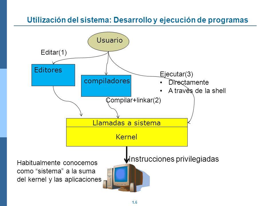 Utilización del sistema: Desarrollo y ejecución de programas