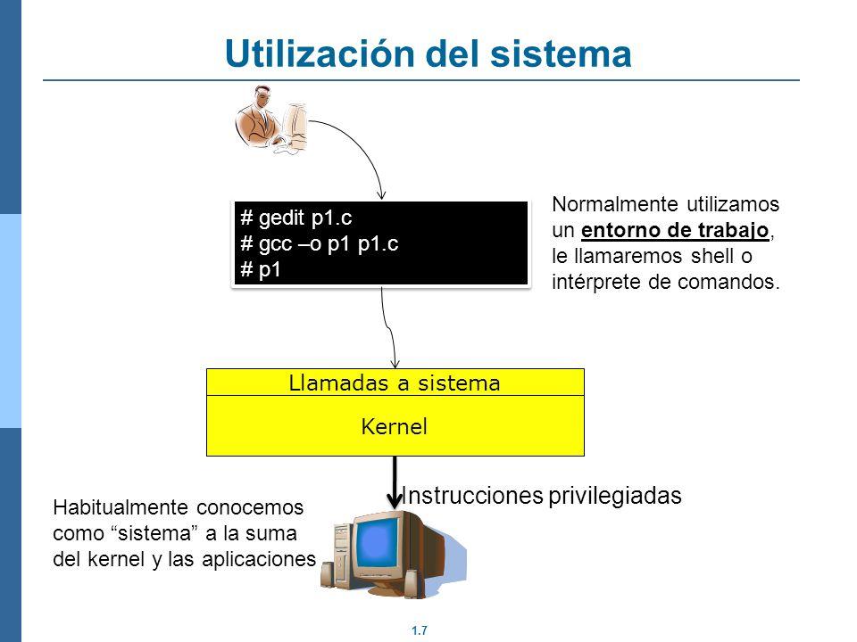 Utilización del sistema