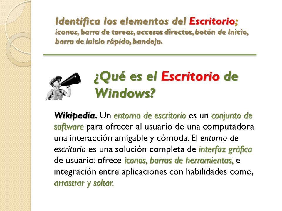 ¿Qué es el Escritorio de Windows