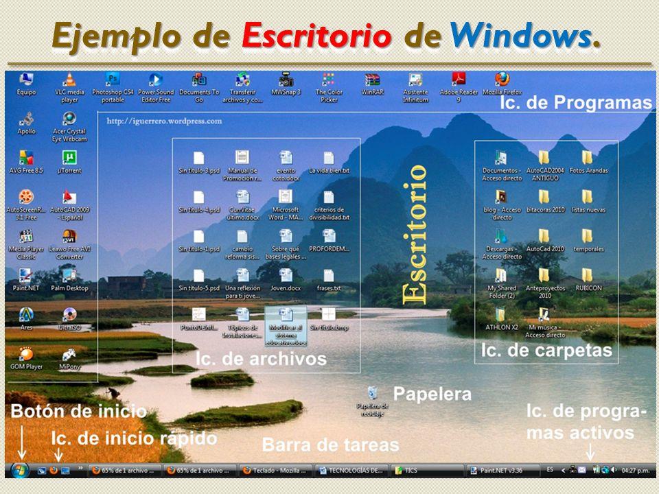 Ejemplo de Escritorio de Windows.