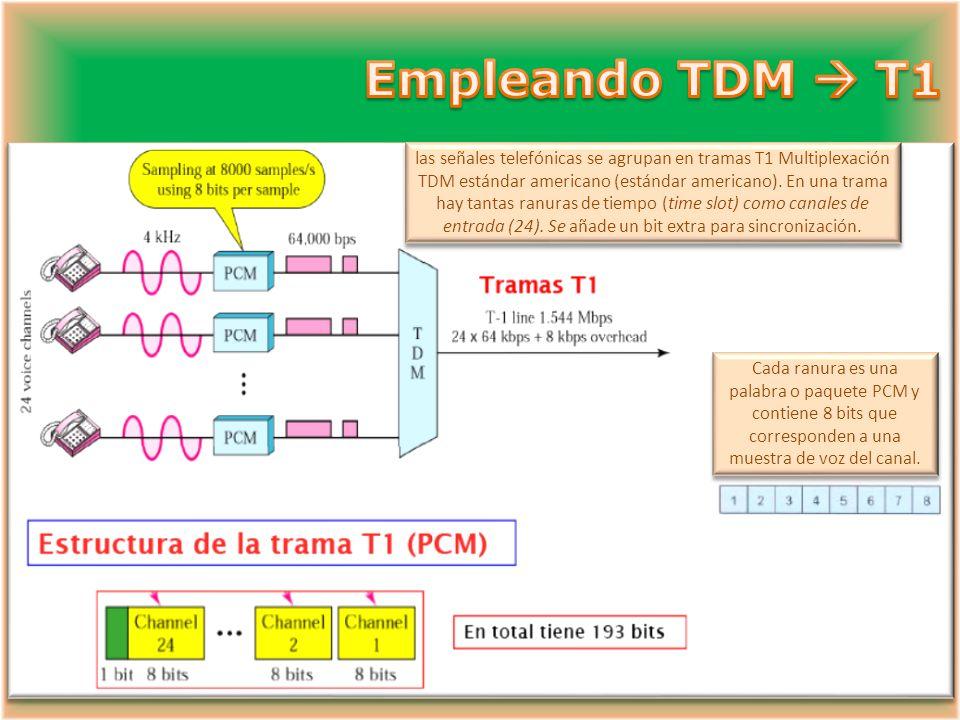 Empleando TDM  T1
