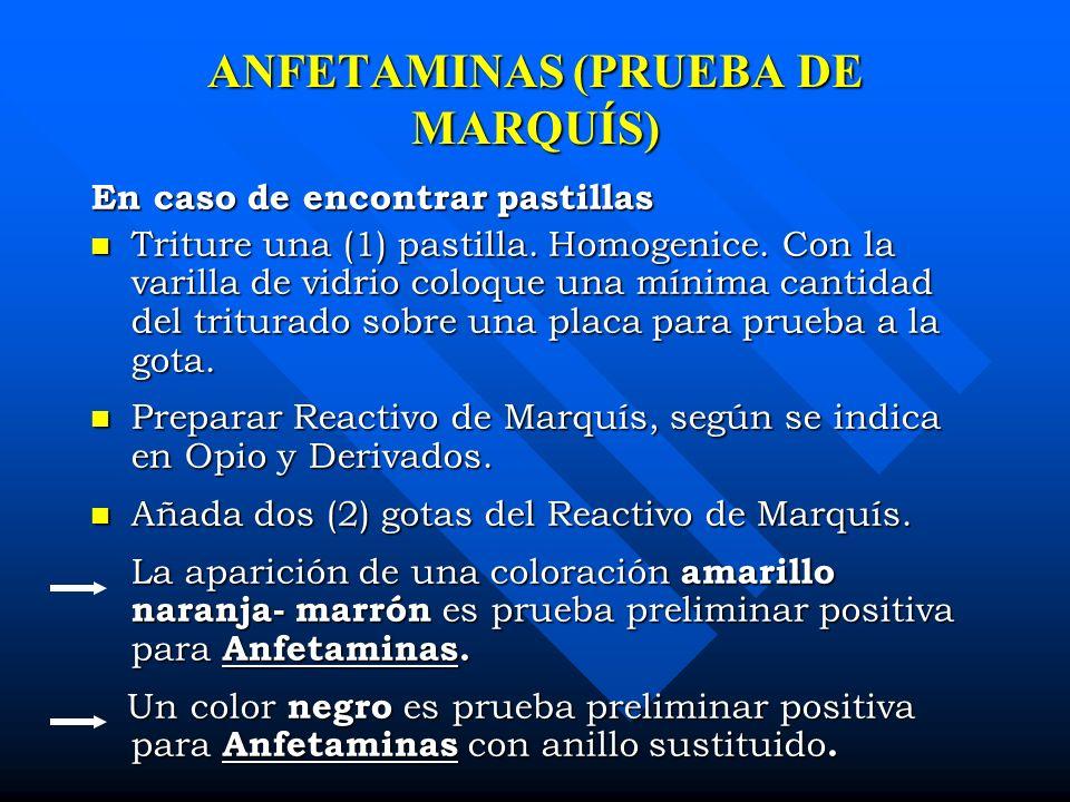 ANFETAMINAS (PRUEBA DE MARQUÍS)