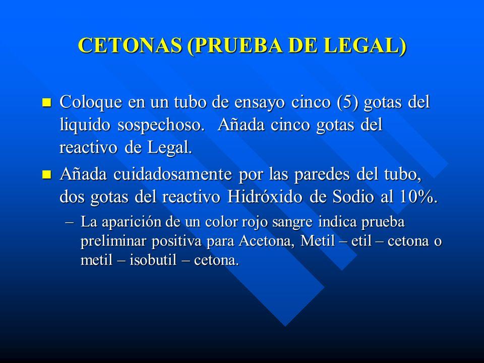 CETONAS (PRUEBA DE LEGAL)