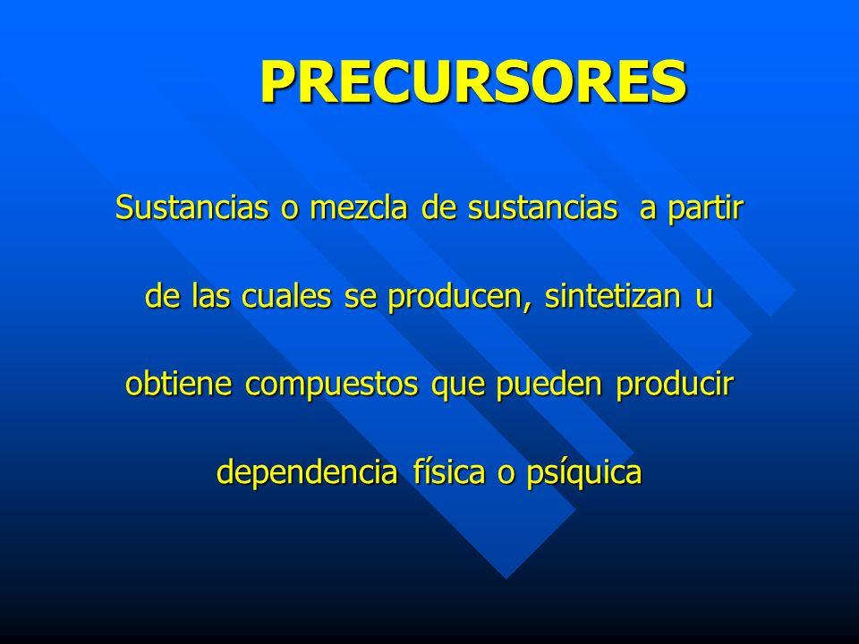 PRECURSORES Sustancias o mezcla de sustancias a partir