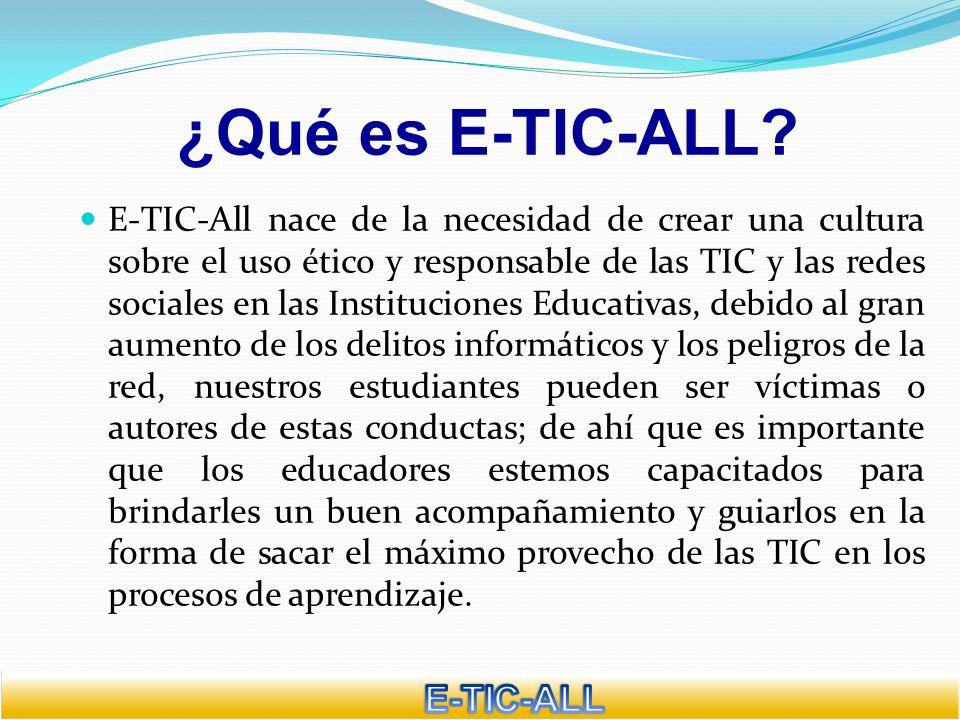 ¿Qué es E-TIC-ALL E-TIC-ALL