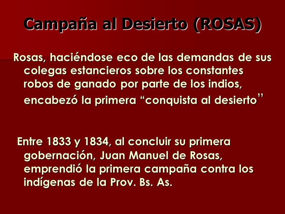 Campaña al Desierto (ROSAS)