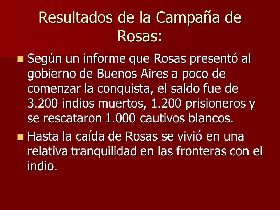 Resultados de la Campaña de Rosas: