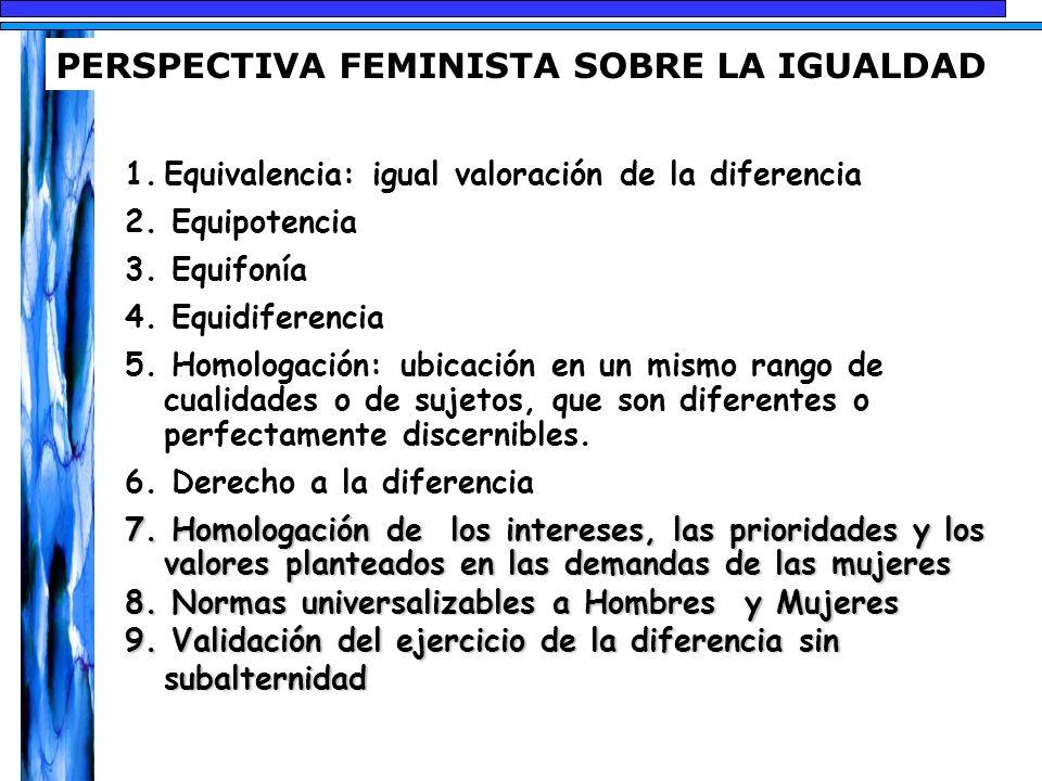 PERSPECTIVA FEMINISTA SOBRE LA IGUALDAD