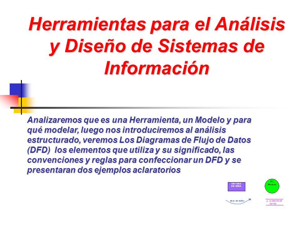 Herramientas para el Análisis y Diseño de Sistemas de Información