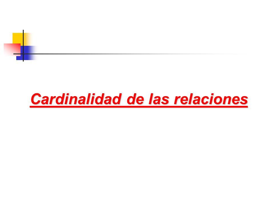 Cardinalidad de las relaciones