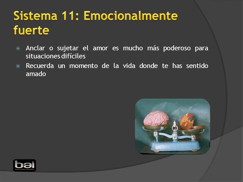Sistema 11: Emocionalmente fuerte