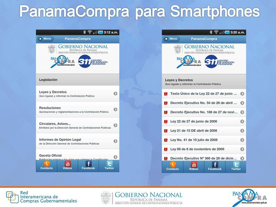 PanamaCompra para Smartphones