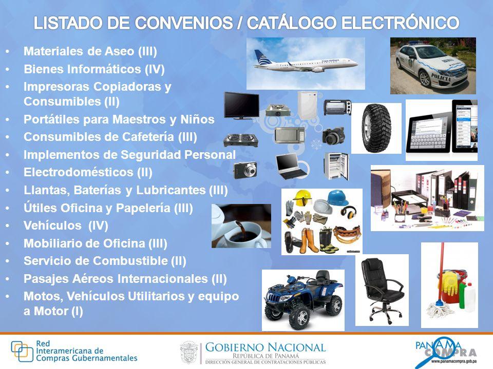 LISTADO DE CONVENIOS / CATÁLOGO ELECTRÓNICO