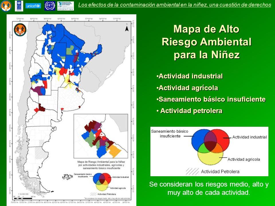 Mapa de Alto Riesgo Ambiental para la Niñez