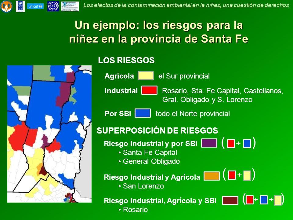 Un ejemplo: los riesgos para la niñez en la provincia de Santa Fe