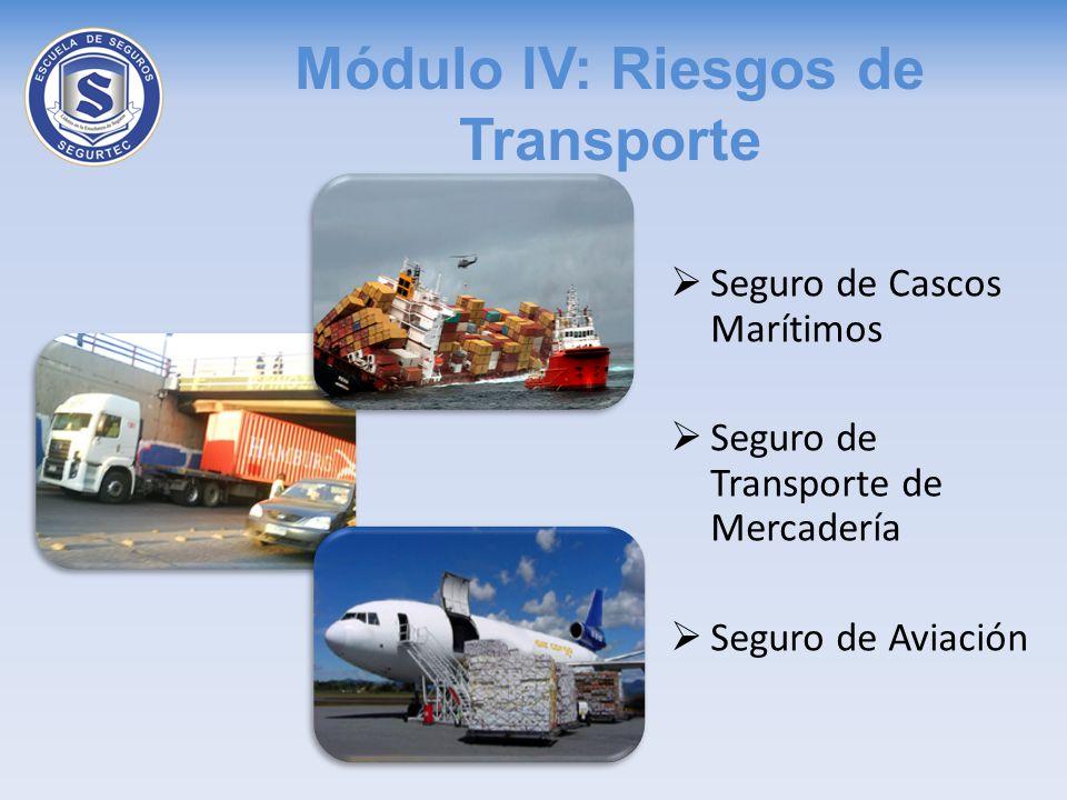 Módulo IV: Riesgos de Transporte