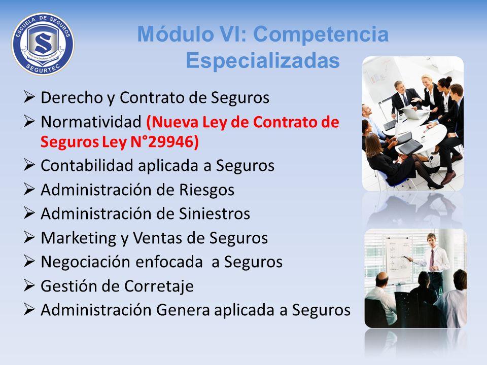 Módulo VI: Competencia Especializadas