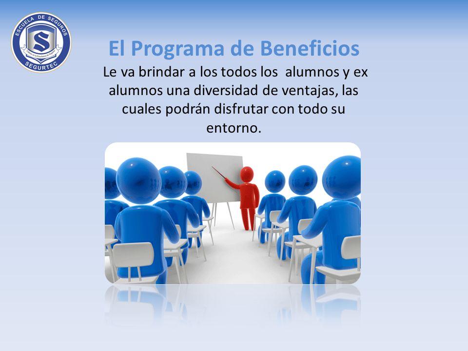 El Programa de Beneficios Le va brindar a los todos los alumnos y ex alumnos una diversidad de ventajas, las cuales podrán disfrutar con todo su entorno.