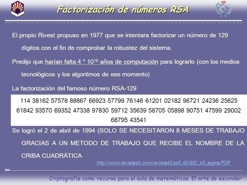 Factorización de números RSA