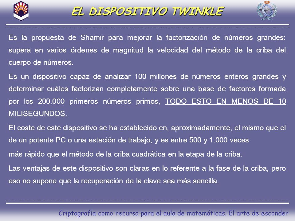 EL DISPOSITIVO TWINKLE