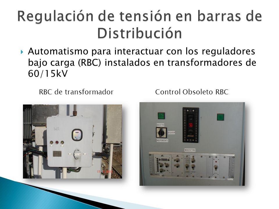 Regulación de tensión en barras de Distribución
