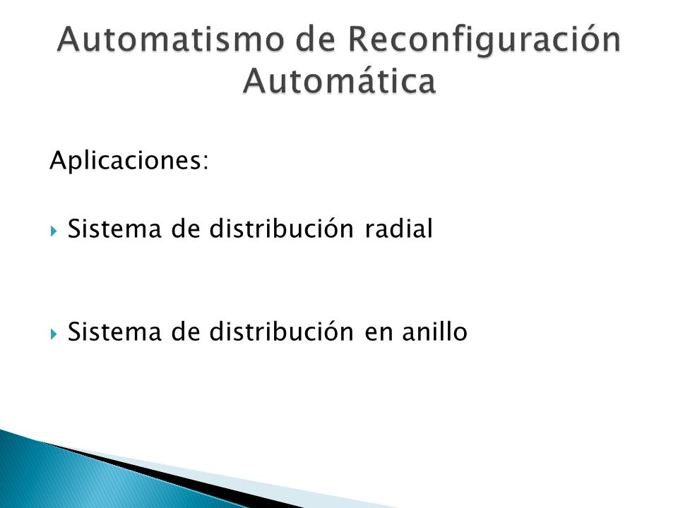 Automatismo de Reconfiguración Automática