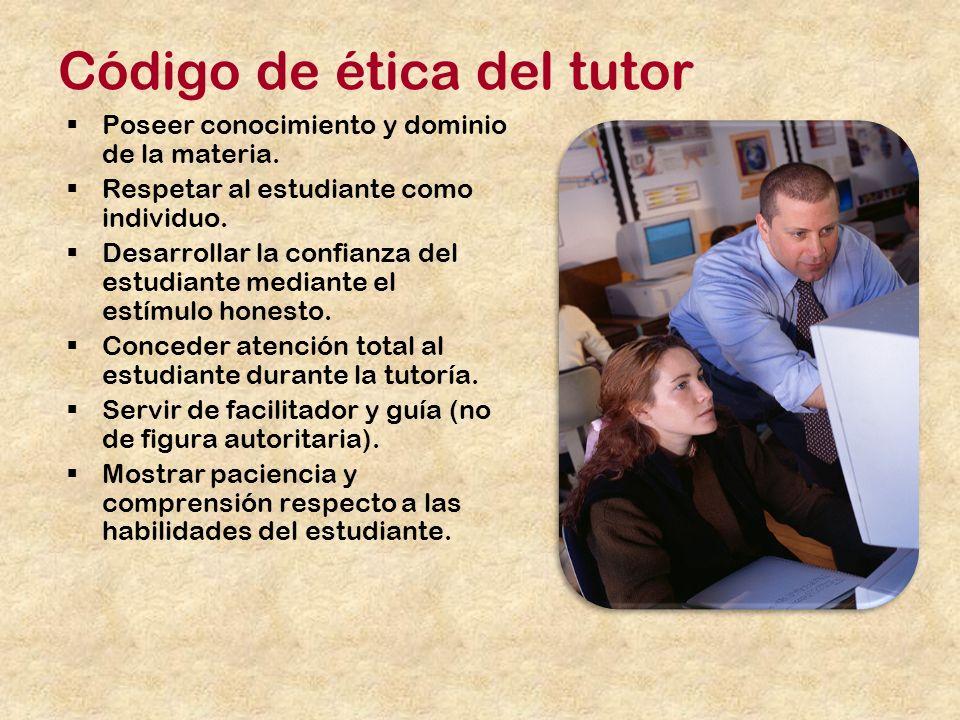 Código de ética del tutor
