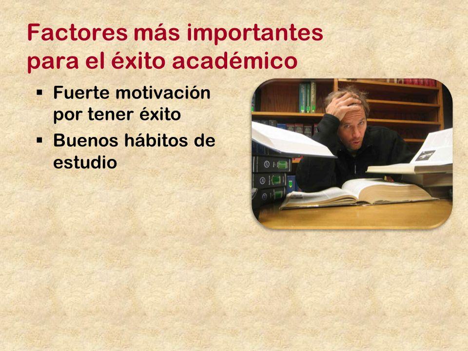 Factores más importantes para el éxito académico