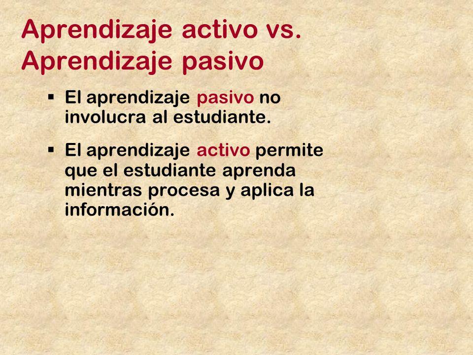 Aprendizaje activo vs. Aprendizaje pasivo