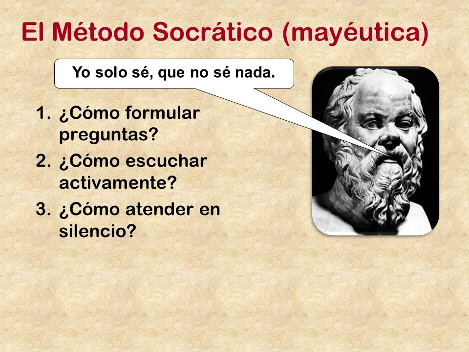 El Método Socrático (mayéutica)
