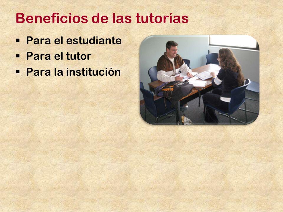Beneficios de las tutorías