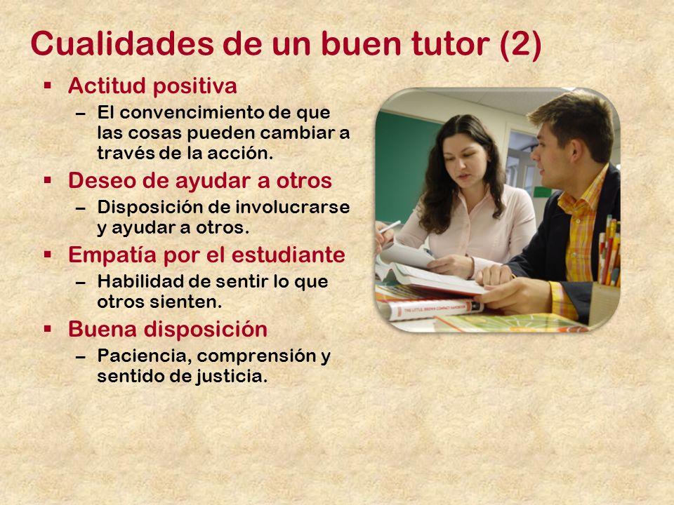 Cualidades de un buen tutor (2)
