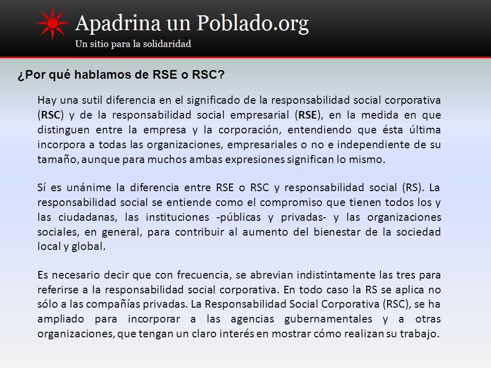 ¿Por qué hablamos de RSE o RSC