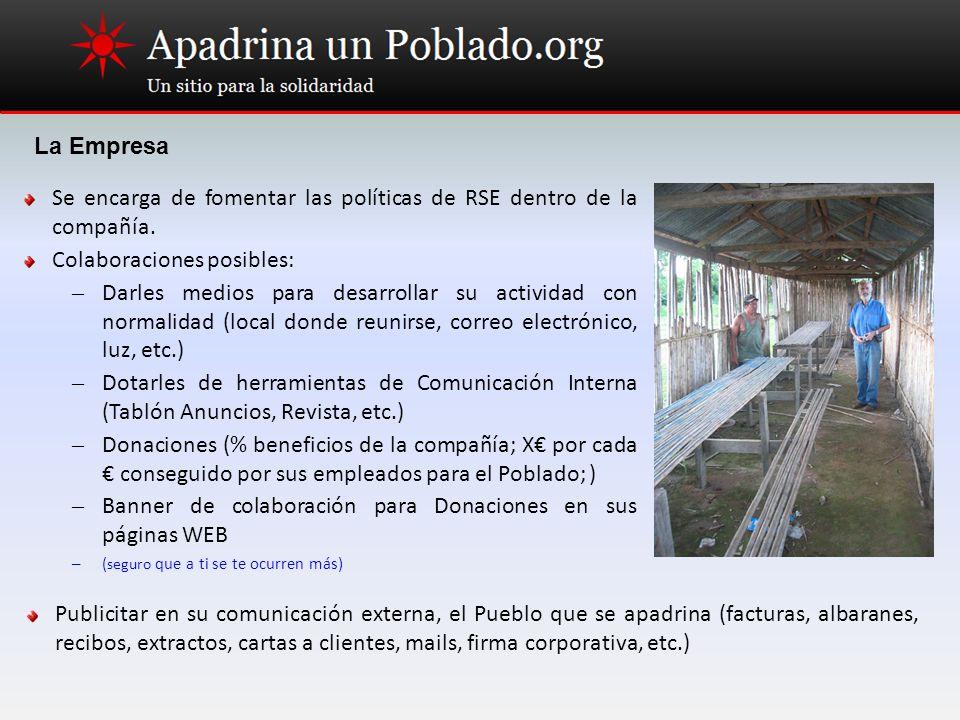 Se encarga de fomentar las políticas de RSE dentro de la compañía.