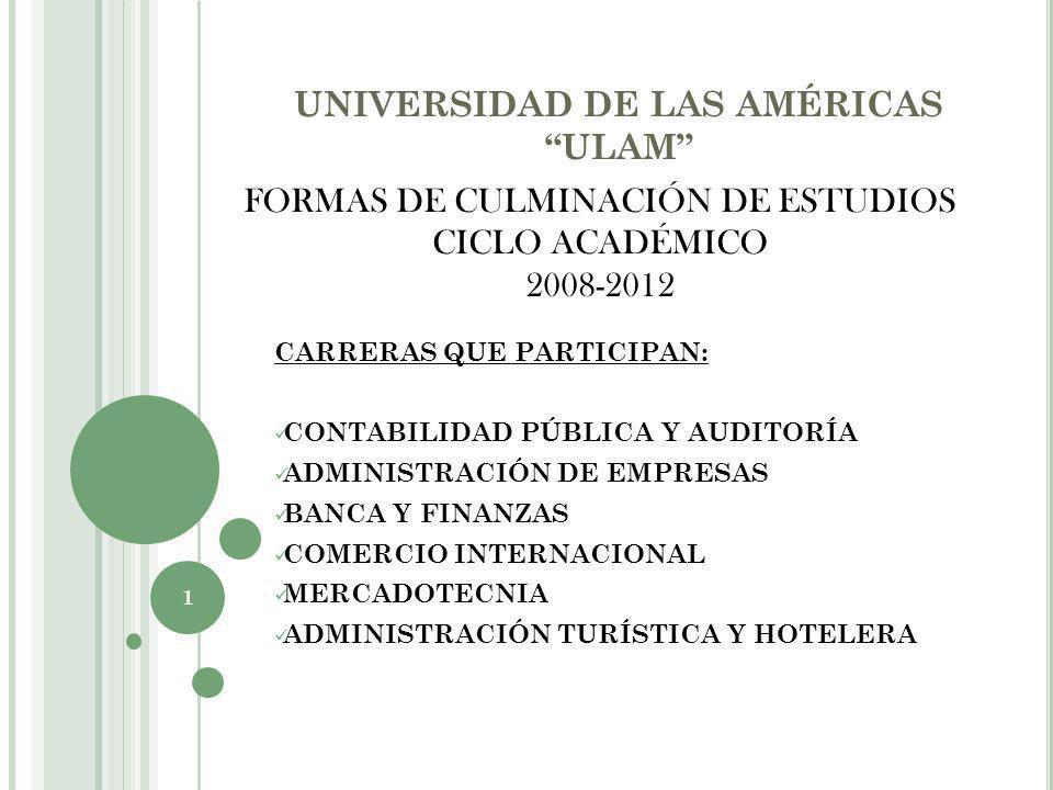 UNIVERSIDAD DE LAS AMÉRICAS ULAM