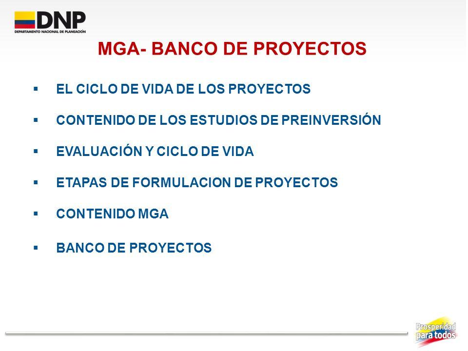 MGA- BANCO DE PROYECTOS