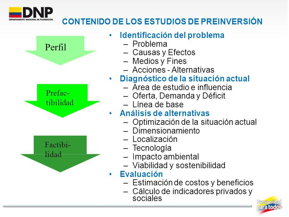 CONTENIDO DE LOS ESTUDIOS DE PREINVERSIÓN