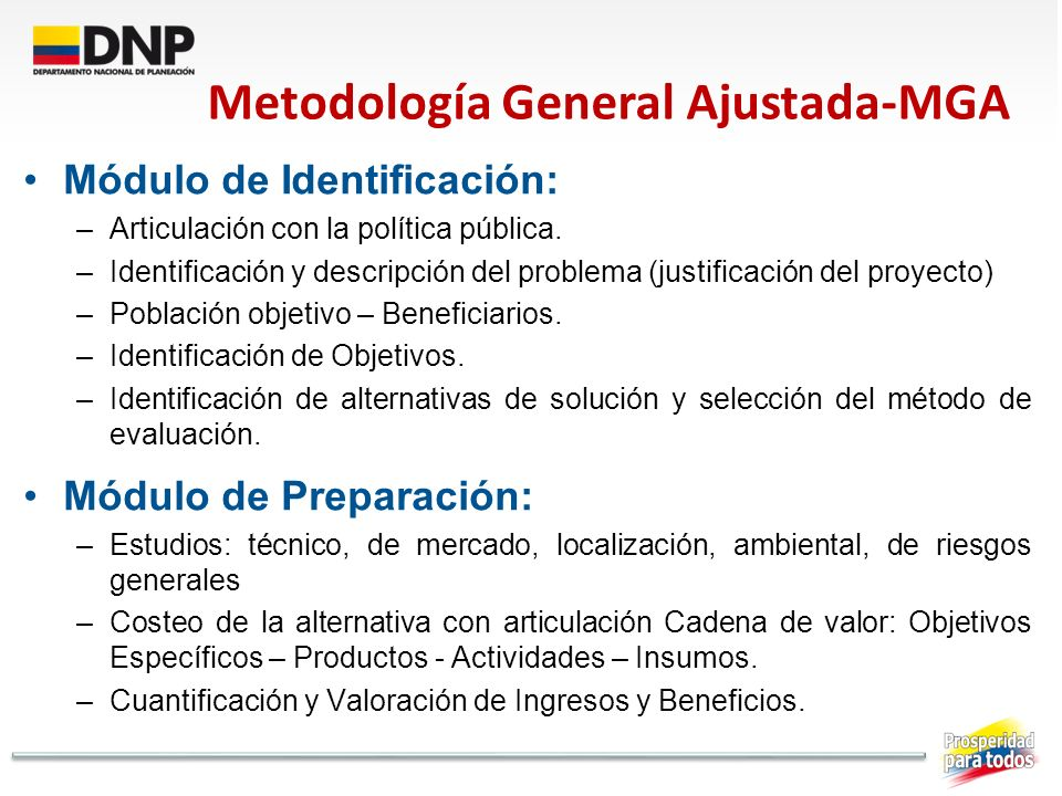 Metodología General Ajustada-MGA