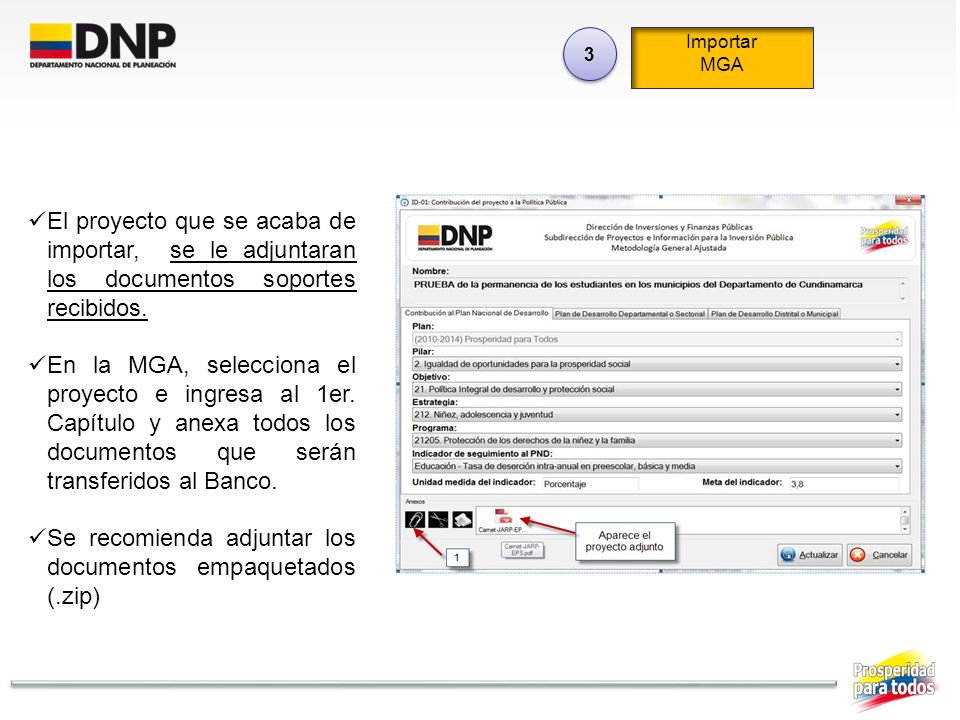 Se recomienda adjuntar los documentos empaquetados (.zip)
